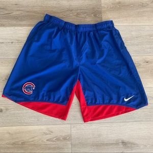 Nike Dri Fit Chicago Cubs Baseball Athletic Shorts